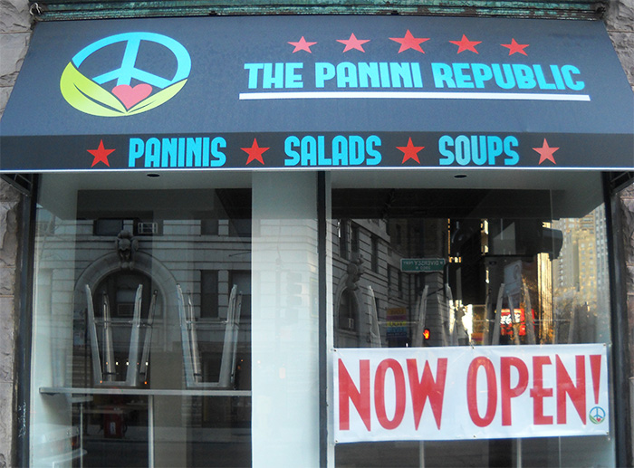 The Panini Republic opened late September on the corner of Diversey Parkway and Pine Grove Avenue. (Photo/Emily Clement)