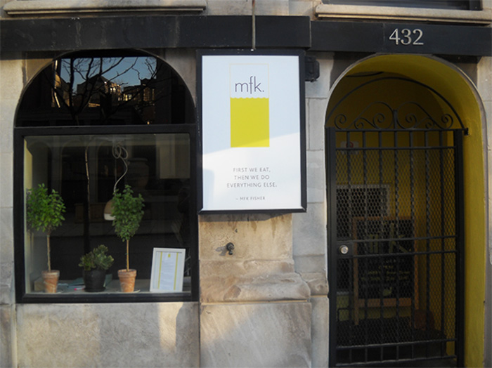 Seafood restaurant mfk. opened July 3 at 432 W. Diversey Parkway. (Photo/Emily Clement)