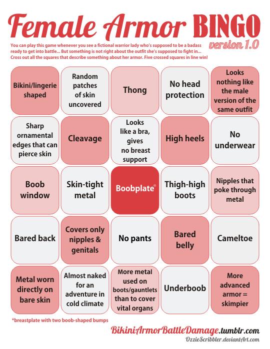 femail armor bingo